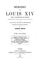 Mémoires pour l'instruction du Dauphin: Volume 2