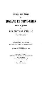 Timbres des états de Toscane et Saint Marin