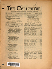 The Collector: A Monthly Magazine for Autograph and Historical Collectors, Volume 16, Issue 4
