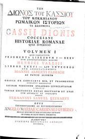 Historiae Romanae quae supersunt ...