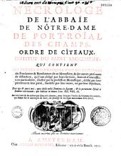 Nécrologe de l'abbaye de Notre-Dame de Port-Royal-des-Champs
