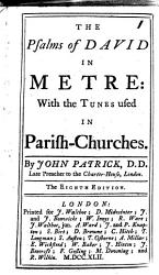 The Psalms Of David In Metre With The Tunes Used In Parish Churches Book PDF