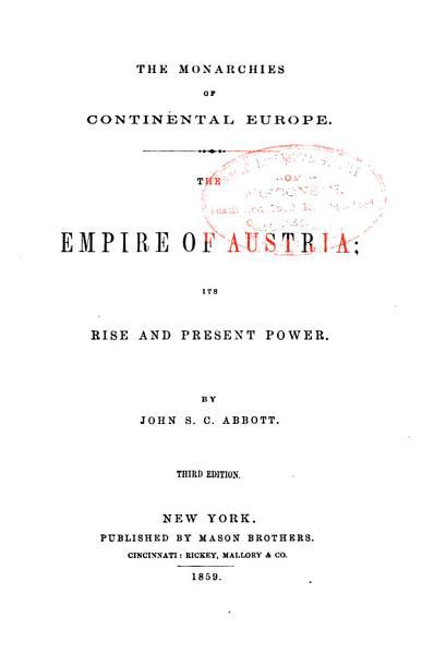Download The Empire of Austria Book