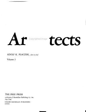 Macmillan Encyclopedia of Architects