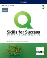 Q  Skills for Success 3E Level 3 Listening and Speaking Student s Book PDF