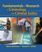Fundamentals of Research in Criminology and Criminal Justice PDF