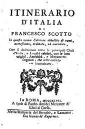 Itinerario d'Italia ...