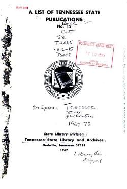 A List of Tennessee State Publications PDF