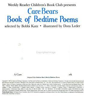 Bedtime Bear s Book of Bedtime Poems