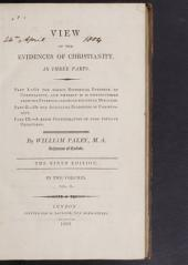 Of the auxiliary evidences of Christianity