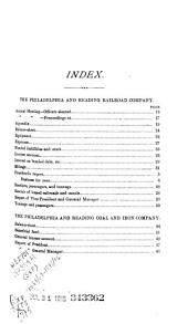 Report of the Operations of the Philadelphia and Reading Railroad Company