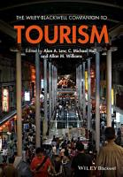 The Wiley Blackwell Companion to Tourism PDF