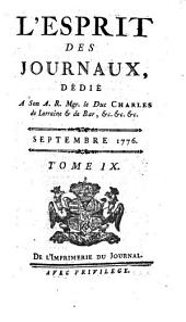 L'esprit des journaux, francais et etrangers