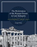 The Restoration of the Roman Forum in Late Antiquity PDF