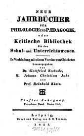 Neue Jahrbücher für Philologie und Pädagogik: Band 14