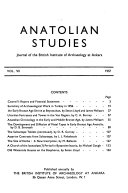 Anatolian Studies