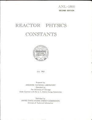 Reactor Physics Constants PDF