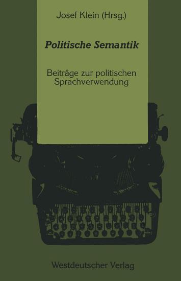 Politische Semantik PDF