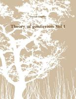 Theory of gontierism Vol 1 PDF