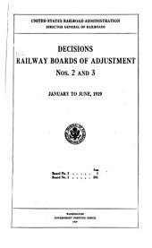 Decisions Railway Board of Adjustment: Issues 2-3