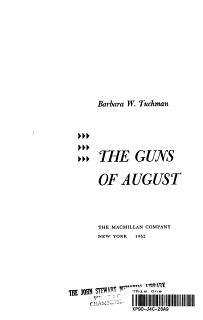 the Guns of August  Book