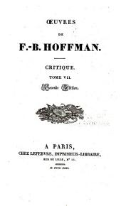Oeuvres de F.-B. Hoffmann: Volume10