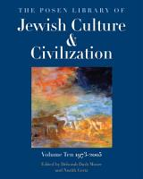 The Posen Library of Jewish Culture and Civilization PDF