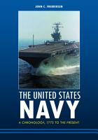 The United States Navy  A Chronology  1775 to the Present PDF
