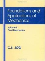 Foundations and Applications of Mechanics  Fluid mechanics PDF
