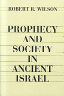 Prophecy and Society in Ancient Israel PDF