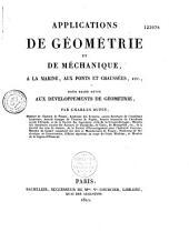 Application de géométrie et de méchanique