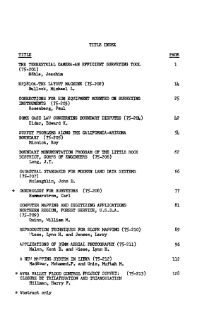 Proceedings of the American Congress on Surveying and Mapping  Fall Convention  Phoenix  Arizona  October 26 31  1975 PDF