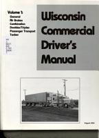Wisconsin Commercial Driver s Manual  General PDF