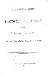 Annual Report of the Factory Inspectors of the State of New York