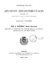 Inventaire-sommaire des archives départementales ...