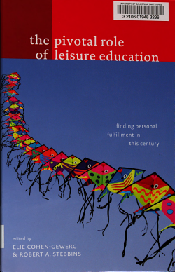 The Pivotal Role of Leisure Education PDF