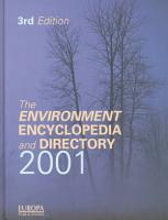 The Environment Encyclopedia and Directory 2001 PDF