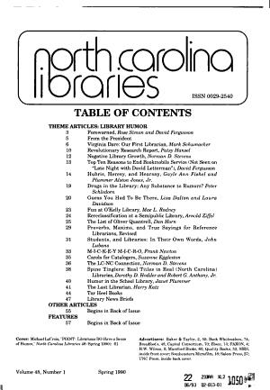 North Carolina Libraries