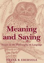 Meaning and Saying