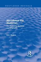 Herodotos the Historian  Routledge Revivals  PDF