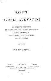 Sancti Avreli Avgvstini De vtilitate credendi: Parts 1-2