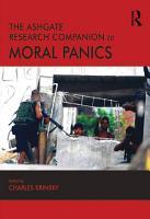 The Ashgate Research Companion to Moral Panics PDF