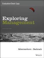 Exploring Management  Fifth Edition Evaluation Copy PDF