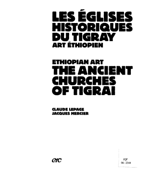Ancient churches of Tigrai PDF