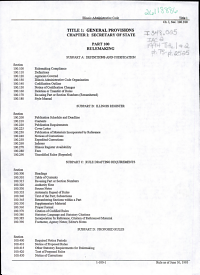 Illinois Administrative Code PDF