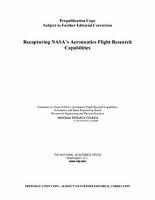 Recapturing NASA s Aeronautics Flight Research Capabilities PDF