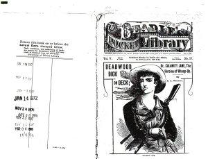 Deadwood Dick on Deck  Or  Calamity Jane  the Heroine of Whoop up PDF