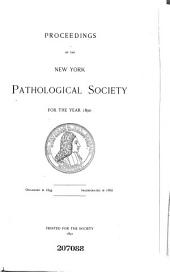 Proceedings of Meetings of the New York Pathological Society