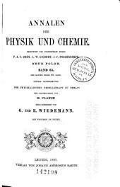 Annalen der Physik und Chemie: Band 299