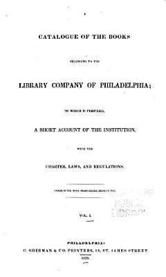 A Catalogue of the Books Belonging to the Library Company of Philadelphia  Religion PDF